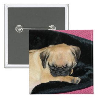 Cute Sleeping Pug Puppy Pin