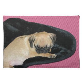 Cute Sleeping Pug Puppy Place Mat