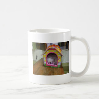 Cute sleeping puppy basic white mug