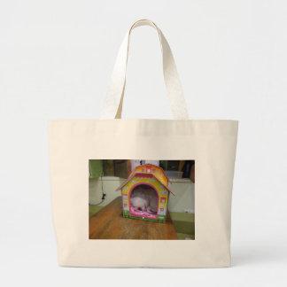 Cute sleeping puppy jumbo tote bag