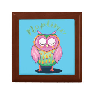 Cute Sleepy Owl Naptime Giftbox Gift Box