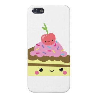 Cute Slice of Kawaii Ice Cream Cake iPhone 5 Case