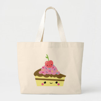 Cute Slice of Kawaii Ice Cream Cake Large Tote Bag