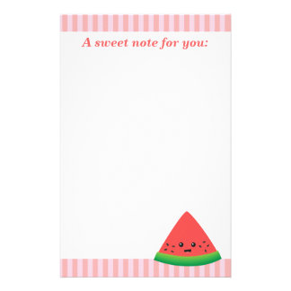 Cute Slice of Watermelon Stationery