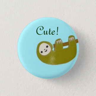 Cute Sloth 3 Cm Round Badge