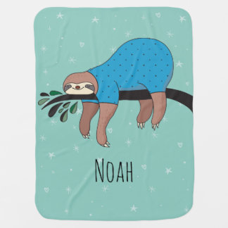 Cute Sloth Baby Blanket