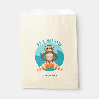 Cute Sloth Be a Mermaid Favour Bags