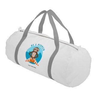 Cute Sloth Be a Mermaid Gym Bag