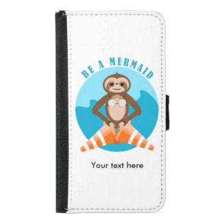 Cute Sloth Be a Mermaid Samsung Galaxy S5 Wallet Case