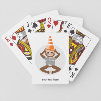 Cute Sloth Be A Unicorn Playing Cards