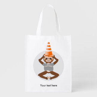 Cute Sloth Be A Unicorn Reusable Grocery Bag