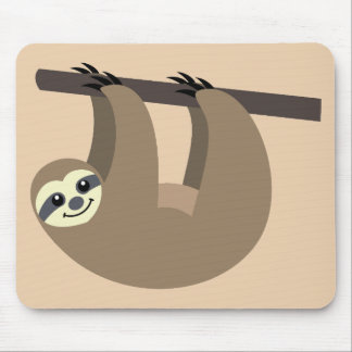 Cute Sloth Cartoon Mouse Pad