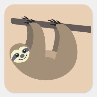 Cute Sloth Cartoon Square Sticker