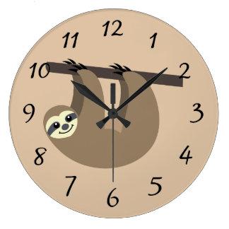 Cute Sloth Cartoon Wall Clock