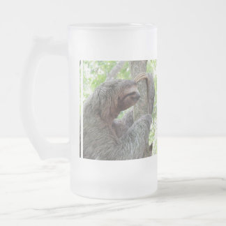 Cute Sloth Frosted Glass Beer Mug