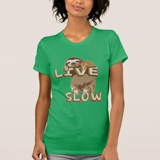 Cute Sloth - LIVE SLOW T-shirt