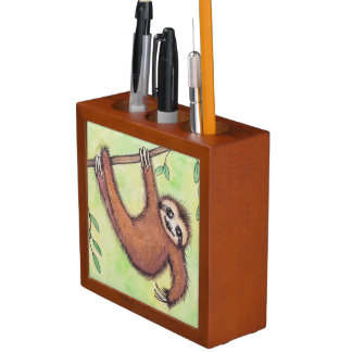 Cute Sloth Pencil Holder