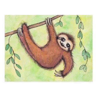 Cute Sloth Postcard