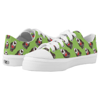 cute sloth with red heart low tops