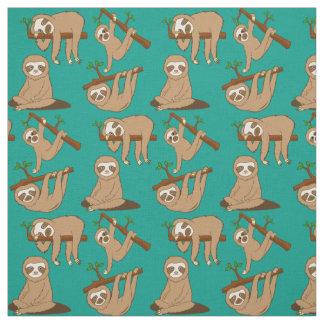 Cute Sloths Fabric
