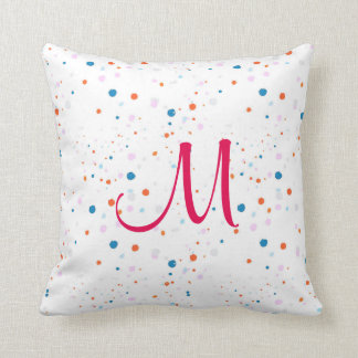 Cute small colourful polka dots  cushion, pillow
