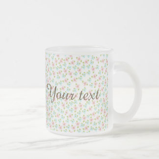 Cute,small,floral,pattern,trendy,girly,country,fun Frosted Glass Mug