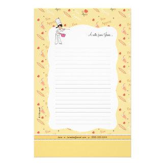 Cute Small kitchen Stationery Sheets