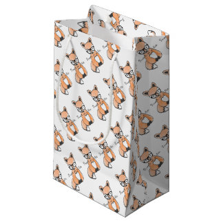 Cute Smart Fox Small Gift Bag