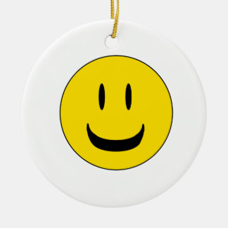 cute smile ceramic ornament