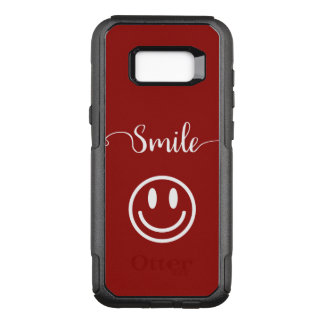 Cute Smile Face Design OtterBox Commuter Samsung Galaxy S8+ Case