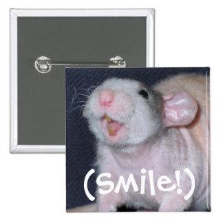 Cute Smile Rat 15 Cm Square Badge