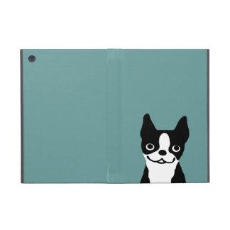 Cute Smiley Boston Terrier - Color Customizable iPad Mini Cases