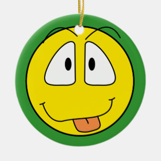 Cute Smiley Face Round Ceramic Decoration