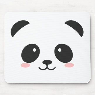 Cute Smiley Panda Mouse Pad