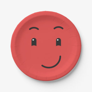 Cute Smiley paper plates 1/9