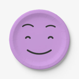 Cute Smiley paper plates 4/9