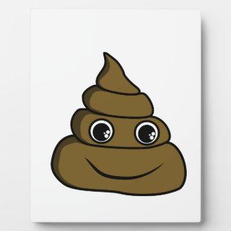 cute smiley poop plaque