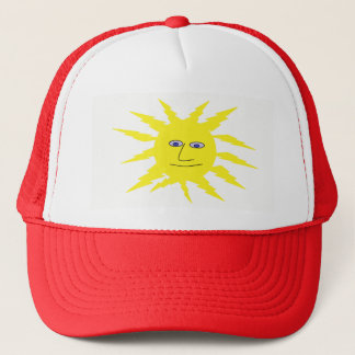 Cute Smiley Sun Face Design Trucker Hat