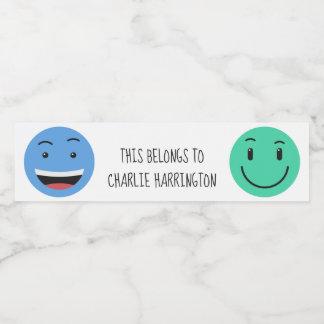 Cute Smileys custom text bottle labels