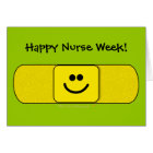 Cute Smiling Bandaid Happy Nurse Week Customisable Card