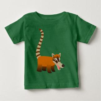 Cute Smiling Cartoon Coatimundi Baby T-Shirts