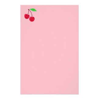 Cute Smiling Cherries Stationery