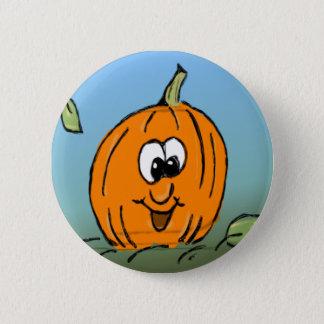 Cute Smiling Friendly Halloween Pumpkin 6 Cm Round Badge