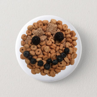 Cute Smiling Fruit and Cereal Face 6 Cm Round Badge