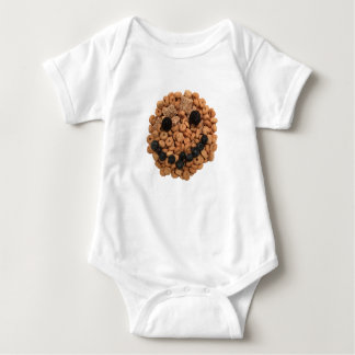 Cute Smiling Fruit and Cereal Face Baby Bodysuit