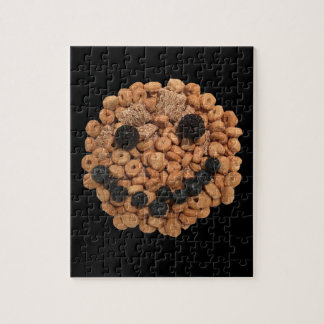 Cute Smiling Fruit and Cereal Face Jigsaw Puzzle