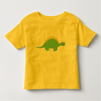 Cute Smiling Green Dinosaur Toddler Tee Shirt
