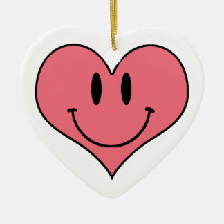 Cute Smiling Heart, Valentine's Love Sweetheart Ornaments