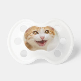 Cute Smiling Kitten Face - Funny Cat Meow Mouth - Pacifiers