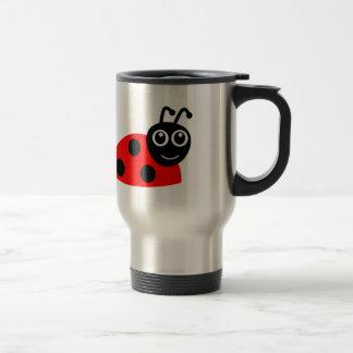 Cute Smiling Ladybug Cartoon Stainless Steel Travel Mug